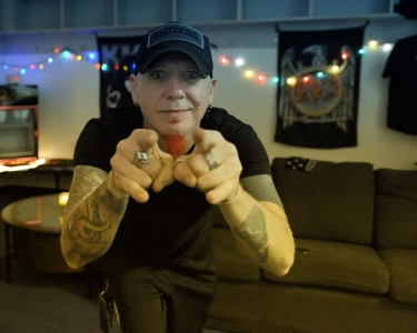 11 Oct 2014, Duluth GA: Chad Gray of HELLYEAH. At Gwinnett Arena, playing with Volbeat and Five Finger Death Punch.