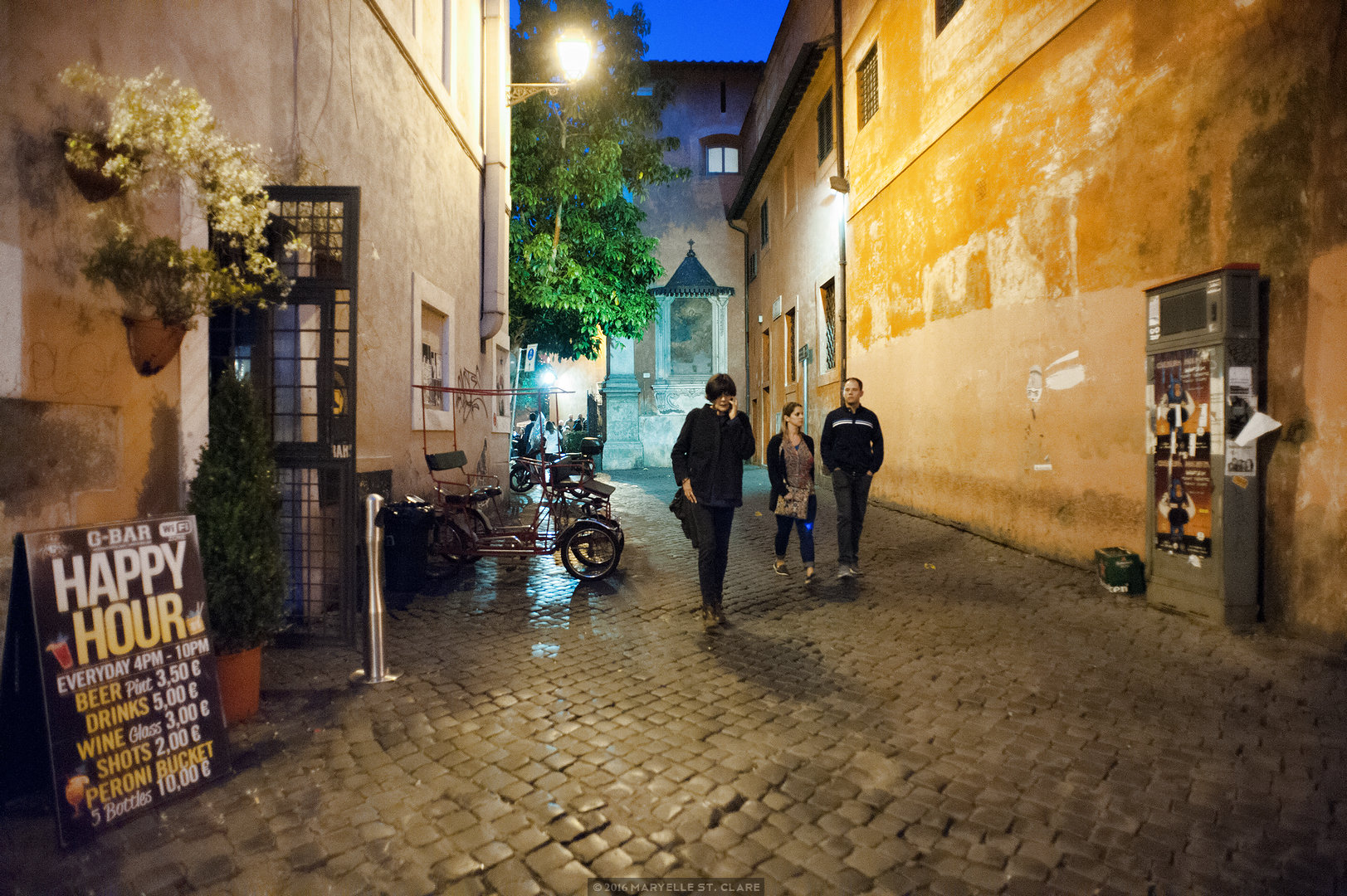 Trastevere neighborhood. Rome, Italy. 2016.